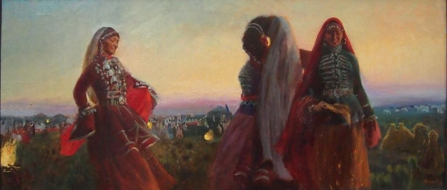 Астраханские степи.Ногайский танец